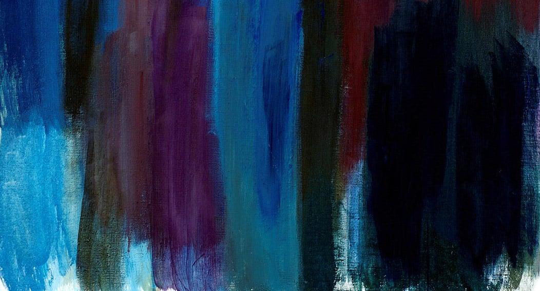 Taidemaalari Päivi Erosen teos Sininen väri Kolilta vuodelta 2005.
