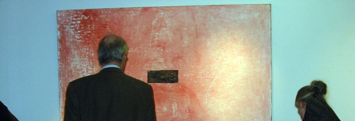 Näkymä taidemaalari Jan-Kenneth Weckmanin näyttelystä Galleria Ortonissa (nyk. Galleria Live).