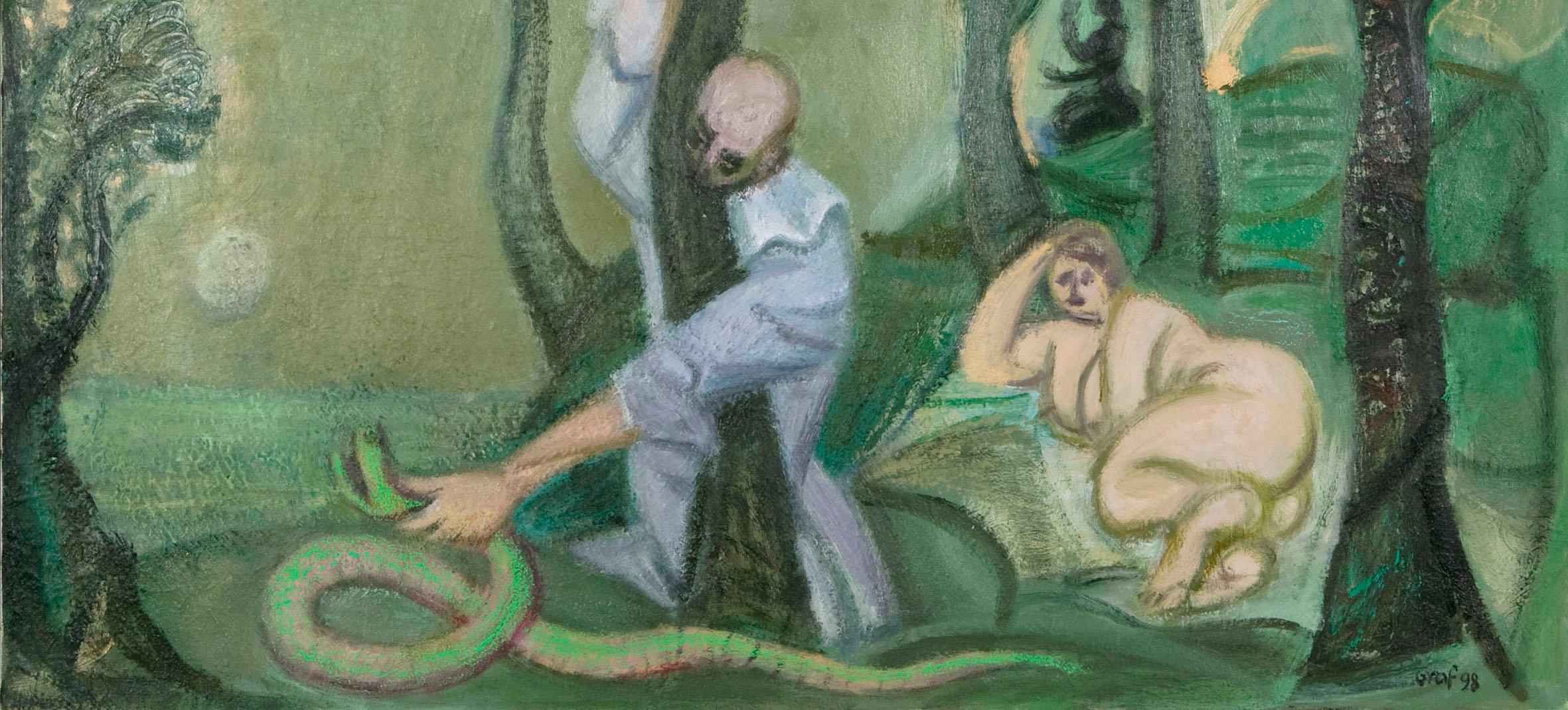 Yksityiskohta taidemaalari Peter Grafin teoksesta.
