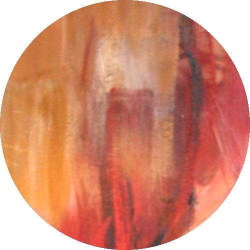 Yksityiskohta taidemaalari Raili Tangin teoksesta.